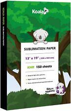 150 Sheets Koala Sublimation Paper 13x19 for Inkjet Heat Transfer Epson DIY Gift