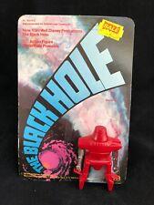 Vintage 1979 Mego Disney Maximillian figura de agujero negro con parte posterior de la tarjeta