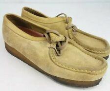 Clarks Originals 35395 Wallabee Women's Beige Suede Casual Shoes 8M