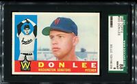 1960 Topps Baseball #503 DON LEE Washington Senators SGC 88 NM/MT