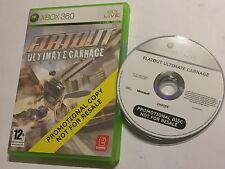 XBOX 360 FULL PROMOTIONAL PROMO COPY GAME FLATOUT ULTIMATE CARNAGE PAL VGC