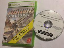 XBOX 360 completa Copia Promozionale Promo Gioco FLATOUT Ultimate Carnage PAL in buonissima condizione