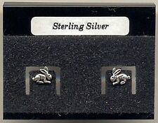 Bunny Rabbit Sterling Silver 925 Studs Earrings Carded