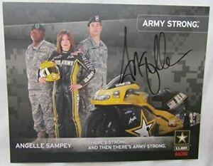 2007 Signed NHRA Pro Stock Motorcycle Driver Angelle Sampey #3 US Army Racing