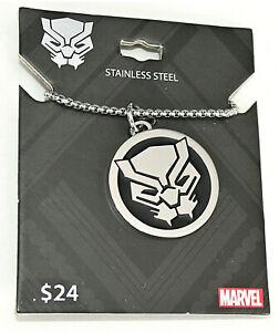 Marvel Comics Black Panther Enamel Stainless Steel Necklace Pendant New MOC Mens