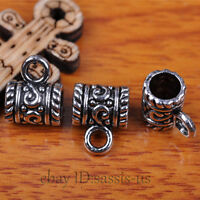 50pcs Charms Tibet Silver Connector Bails Fit Pandent DIY Jewery Making A7293