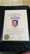 1956 The Army Aviation School Pilot Fort Rucker Al Diploma signed