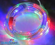 "LED Rope Light 9Ft 110V 120V 2-Wire 1/2"" Multi Color Red Blue Yellow Green"