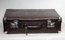 Vintage suitcase - shabby chic - brauner Oldtimer Hartpappe Koffer Reisekoffer