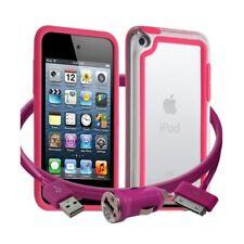 Housse Etui Coque Bumper rose pour Apple iPod Touch 4G + chargeur auto