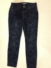 CHICOS 00 Platinum Jeans Zebra Pattern Denim Zip Pocket  size 00