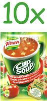 10 x KNORR Tomato Cup a Soup Instant Soup with Croutons