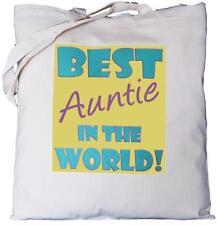 Miglior Zia nel mondo-Cotone Naturale Borsa a tracolla-Regalo