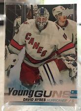 19-20 Upper Deck Young Guns David Ayres #519 Canes