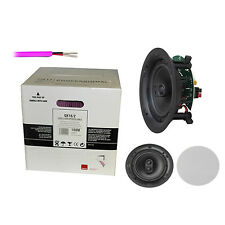 """1 pair of Q Install Pro 6.5"""" In-Ceiling Speaker for SONOS + 30m QED 16/2 cable"""