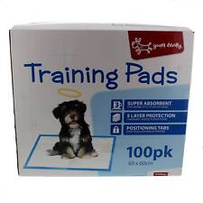 Training Pads 100 Pack Yours Droolly Dog Puppy Toilet Train Super Absorpent