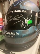 Dale Earnhardt Jr & Elliott Sadler Signed F/S Replica Helmet OneMain Financial