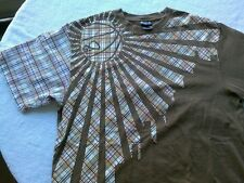 K1X Check It To Wreck It King Size Tee T Shirt Brown & Plaid Mens XL