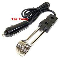 """5"""" Water Heater 12V Electric Portable Immersion Element Boiler Coffee Water Mini"""