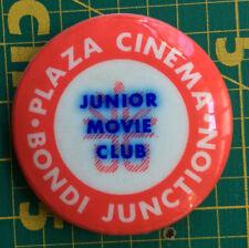 PLAZA CINEMA BONDI Junior Movie Club BADGE Sydney Australia vintage button rare