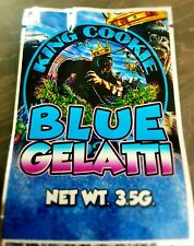 King Cookie Blue Gelati Mylar Bags x10 3.5g Heat Sealable Smell Proof