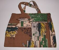 VINTAGE HAND MADE BAG Made with 50s Upholstery Fabric Classic