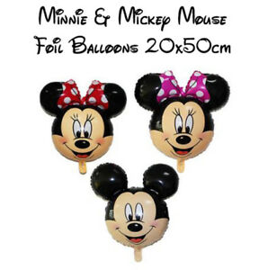 Disney Minnie, Mickey Mouse Large Foil Balloons 20x50cm - Fast & Free Post