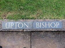 "Vintage ""UPTON BISHOP"" COPPER SIGN   Ross-On-Wye Herefordshire    SIGNS"