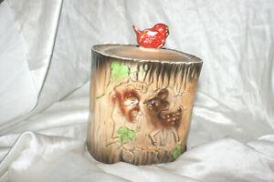 Rare VTG Bambi & Squirrel Cookie Jar