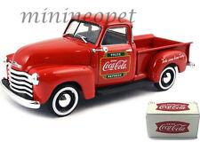 MOTOR CITY 478104 1953 CHEVROLET PICK UP TRUCK W/ METAL COOLER COCA COLA 1/43