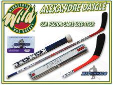 ALEXANDRE DAIGLE Game Used Stick MINNESOTA WILD CCM VECTOR w/COA
