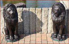 Bronzeskulptur, Löwe, Löwenpaar, Skulptur, Garten, Dekoration *
