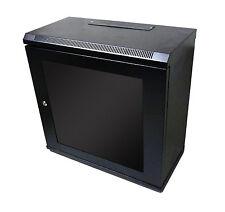 12U 300mm Nero Muro Armadietto dati in rete per Rack Pannello Patch, PDU & SWITCH LAN