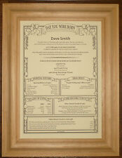 60th 70th Personalised Birthday Gift Present Scroll
