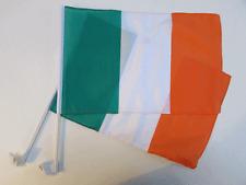 REPUBLIC OF IRELAND CAR WINDOW FLAG - 2 PACK NEW