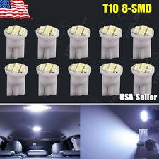 10 X T10 Cool White 8-SMD Super Bright LED LIGHT BULBS 194 2825 168 175 501