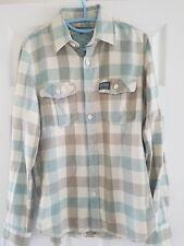 Mens Superdry Hoodie Shirt Lumberjack Check Hooded Size Medium