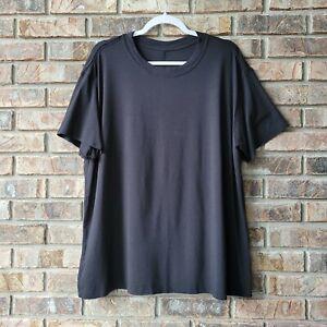 Lululemon Women's All Yours Black Boyfriend Tee Shirt Size 12