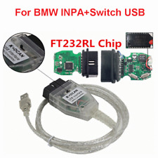 OBD2 for BMW INPA K+CAN With Switch FT232RQ Chip Diagnostic Tool OBDII USB Cable