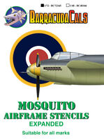 Barracuda Decals 1/72 Mosquito Airframe Stencils - Expanded # 72165