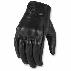 Motorcycle Gloves Real Leather Icon Prusuit Men 3xl armor