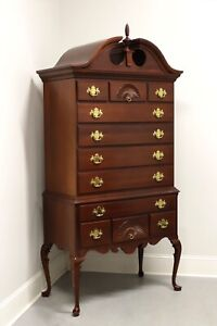 LINK TAYLOR Solid Mahogany Queen Anne Style Highboy