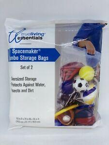 "Set of 2 True Living Essentials Spacemaker Jumbo Storage Bags 6.5"" x 24"" x 35"""