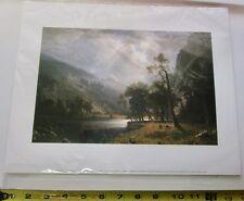 """1995 Albert Bierstadt Color Art Print - Yosemite Valley 14"""" x 11 1/4"""""""
