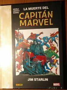 Tomo Novela gráfica Marvel La muerte del capitan Marvel de Panini NUEVO