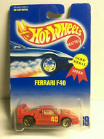 1992 Hot Wheels Ferrari F40 COLLECTOR #69 GOLD LACE WHEELS VARIATION VERY RARE!!