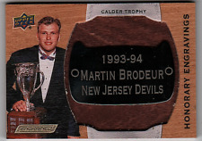 2018-19 UD Engrained Honorary Engravings Martin Brodeur #16/100 (ref 105261)