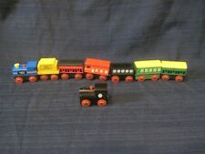 Wooden Magnetic Train Carriage Cars Kids Toy Train Collection Set of 8