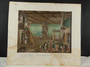 ANTICA ACQUAFORTE MILANO RANIERI FANFANI OCCUPAZIONI RURALI 1822 SCOTTI GALLIARI