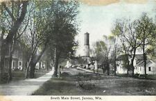 Juneau Wisconsin~Big Water Tower~South Main Street Homes~1911 Postcard